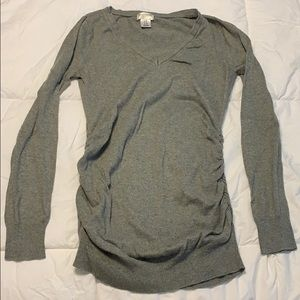 Grey maternity sweater